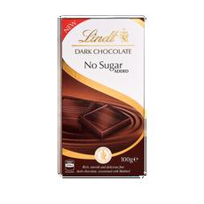 Lindt Dark No Added Sugar Bar 100g