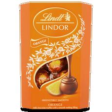 Lindt Lindor Milk Orange Truffles 200g