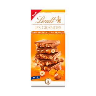 Lindt Les Grandes Milk Hazelnut & Caramel Bar 150g