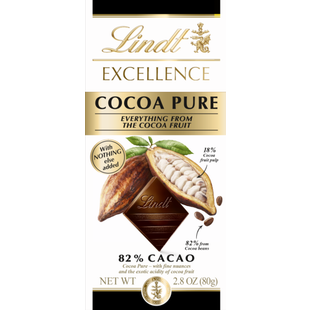 Lindt EXCELLENCE Dark Cocoa Pure 82% Bar 80g