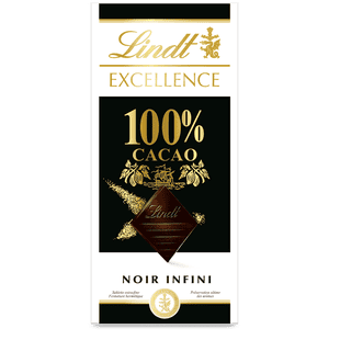 100% dark chocolate bar - Lindt Excellence 100% cocoa