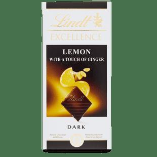 Lindt Excellence Dark Lemon & Ginger Bar 100g