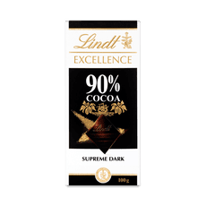 90% dark chocolate bar - Lindt Excellence 90% cocoa